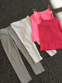 ALL 4-Pieces Girl's Size 7-8 /2-Crop Pants & 2-Bra Tank Tops!