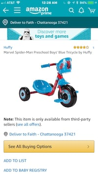 Spider-Man or cars trike brand new Chattanooga, 37421
