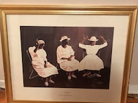 Three woman photo with brown wooden frame Kansas City, 64133