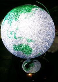 white and green floral table lamp Bremerton, 98311