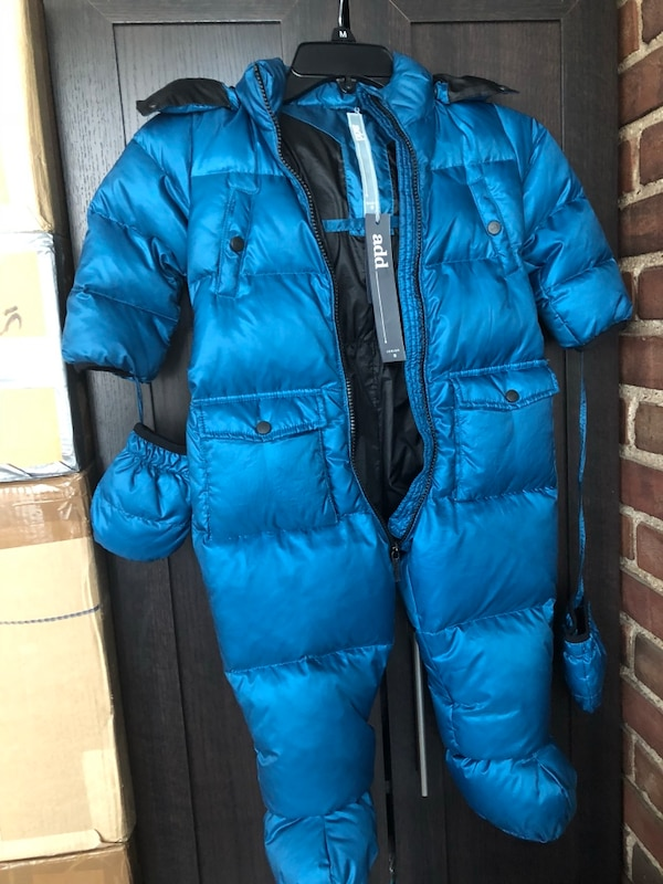 ae9b6be01 Used New NWT 18m Baby boy Add Down snowsuit for sale in New York - letgo