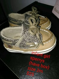 pair of gray Sperry boat shoes 354 mi