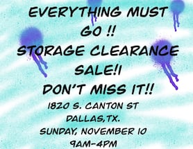 Liquidation sale! Extended to today from 12 noon until  7pm