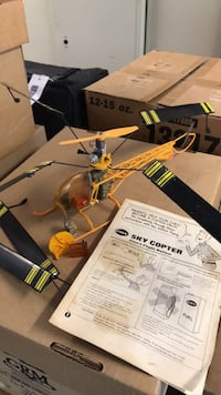 Vintage Cox Sky Copter free flight helicopter