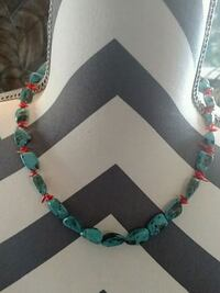 Genuine coral and turquoise necklace Sparks, 89441