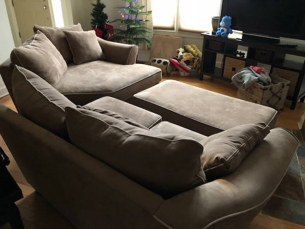 Awesome Used Dillon 2 Piece Sectional Couch W Ottoman For Sale In Beatyapartments Chair Design Images Beatyapartmentscom