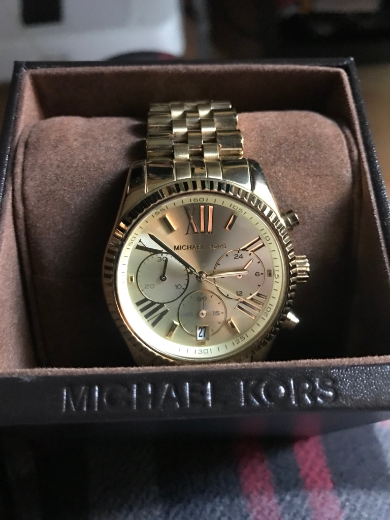 Photo Gold michael kors watch