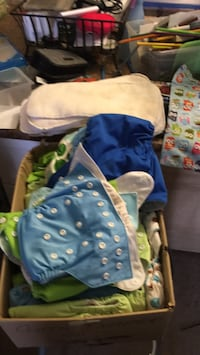 Baby's  cloth diapers and soaker pads