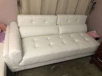 White leather couch Whittier, 90601