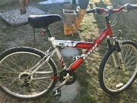 red and black full suspension mountain bike Edmonton, T5Z 2N1