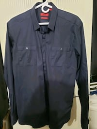 black button-up long sleeve shirt Waldorf