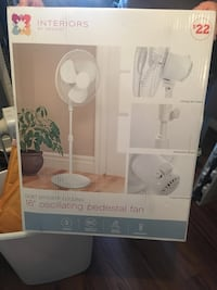 "Interiors 16"" oscillating pedestal fan box Spring Grove, 17362"