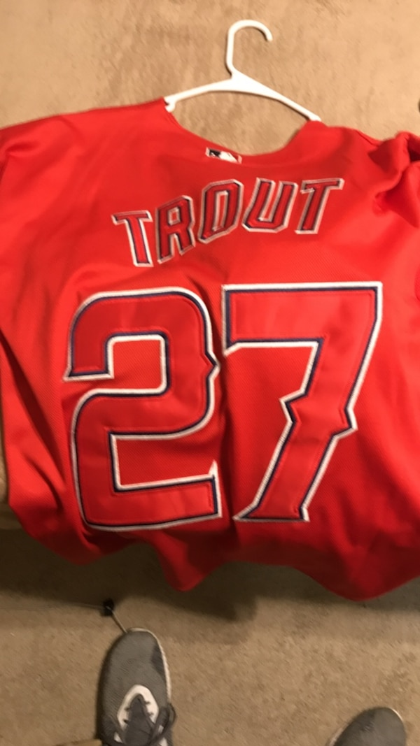 new product 4a19f 3eff5 Mike Trout Angels Jersey XL