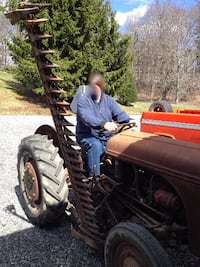 1939 Ford Ferguson Tractor with Side mount mower and 3pt hitch mounted scoop for sale or trade Rockville