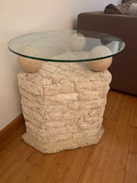 Marble base side table