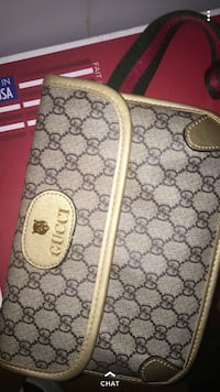 gray and white Gucci monogram leather backpack Manassas, 20110
