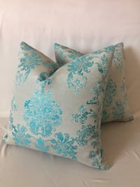 teal and white floral throw pillow Concord, 28025