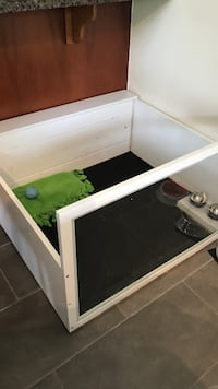 Custom Made White-Wash Wood and Glass Puppy Pen Vancouver, V6K 1M7