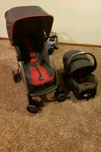 stroller for children and car seat
