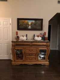 Buffet-Marble Top and solid wood