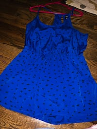 Blue and black sleeveless dress Forney, 75126