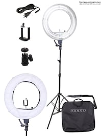 18 inch Diva Ring Light Kit (smartphone holder/camera mount/ & stand included) BRAND NEW Toronto