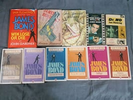James Bond Book Collection Including First Edition