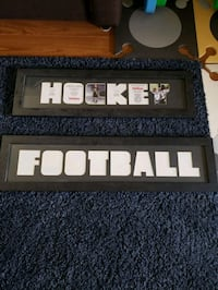 Hockey & Football picture frames,  never used. Burlington, L7M 4C2