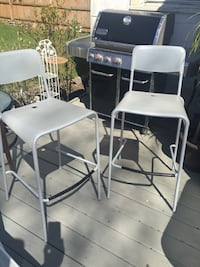 two white metal framed chairs Smithtown, 11787