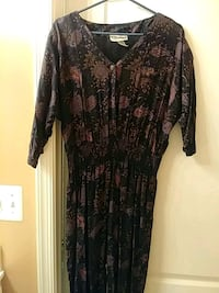 women's black and brown floral dress Clarksburg, 20871