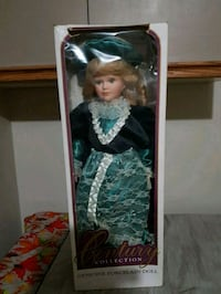 "Gorgeous Porcelain Tall Doll.  Like NEW. 22.5"" inches (57cm)"