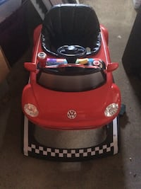 Red and black car activity walker