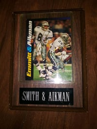 Troy Aikman and Emmitt Smith signed card