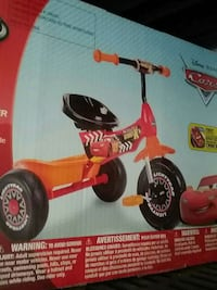 Disney Pixar cars pedal trike box