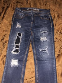distressed blue-washed jeans Marshalltown, 50158