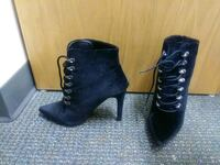 pair of black suede platform stilettos Fairfax, 22030