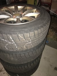 225/60r17 winter with rims 75% thread
