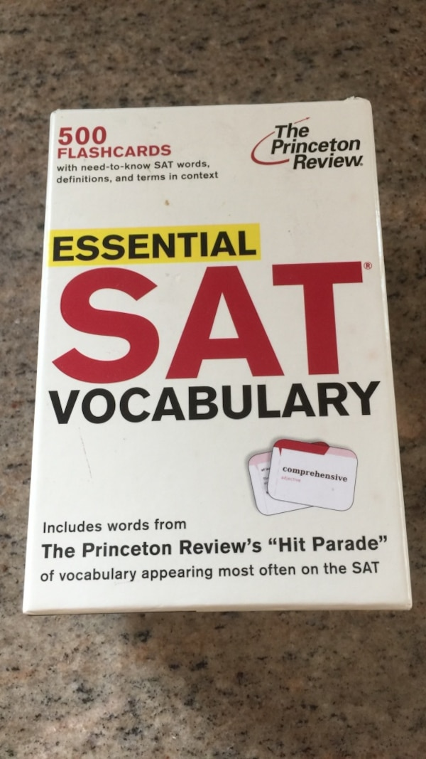 Used Essential Sat Vocabulary 500 Flashcards For Sale In New York