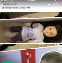 white and black dressed porcelain doll in box Bellevue, 68123