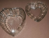 Heart glass 2piece dish Slidell, 70461