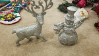 gray stainless steel deer and snowman table decor Hanover, 21076