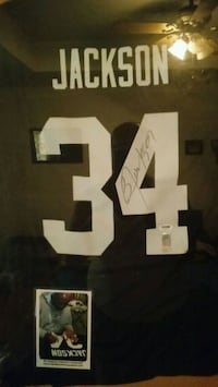 autographed black and white Jackson 34 NFL jersey Springfield, 65803