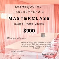 Eyelash extension training course Toronto