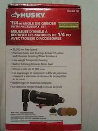 HUSKY 1/4 angle die grinder with accessory kit Edmonton, T5H 4H3