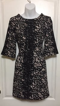 Black Print Dress: Size Small Brampton, L7A