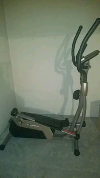 Elliptical and 25 lbs free weights