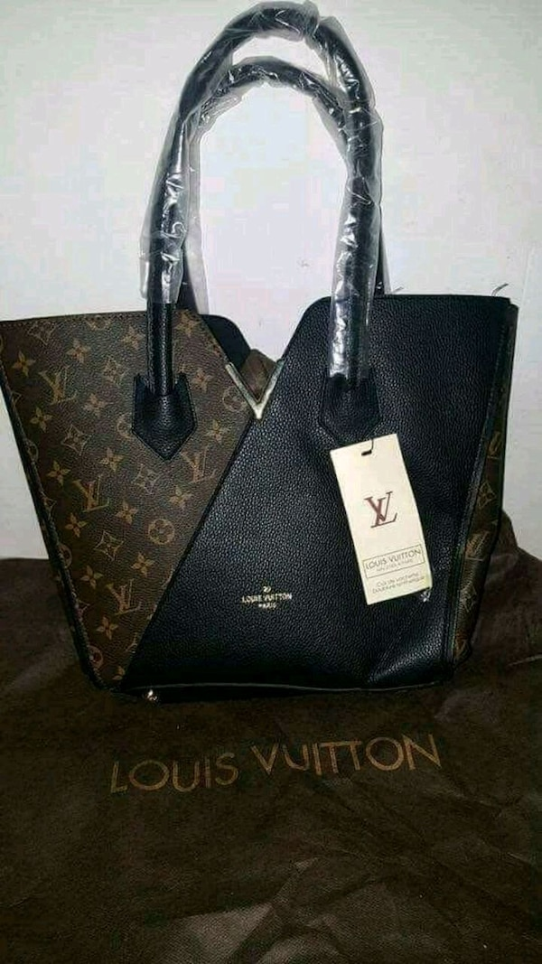 Tote bag in pelle Louis Vuitton nera