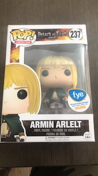 Pop! Attack on Titan 237 Armin Arlelt vinyl figure box