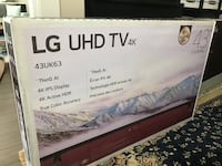 "LG 43"" UHD smart tv brand new    Retails for 649+tax Port Coquitlam, V3C 0C4"
