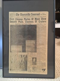 August 1 1964 Knoxville News Sentinel Framed Front Page Johnson City, 37615